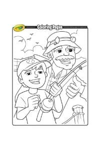 disegni da colorare per bambini di 6 anni Nonno
