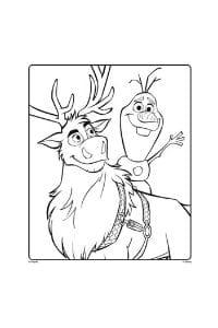 disegni da colorare per bambini di 6 anni Olaf e Sven