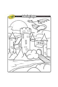 disegni da colorare per bambini di 7 anni castello