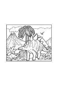 disegni da colorare per bambini di 7 anni stegosauro