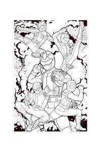 disegni da colorare per bambini di 8 anni con power rangers