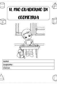 copertina del mio quaderno di geometria