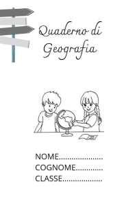 copertina del quaderno di geografia
