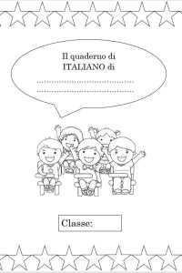 copertina del quaderno di italiano