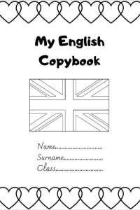 copertina quaderno di inglese english