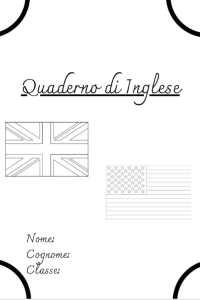 copertina quaderno di inglese
