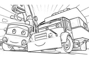 Super Truck disegni da colorare e stampare PDF Amber