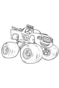 monster truck da colorare PDF Blaze