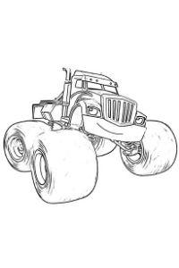 monster truck da colorare PDF Crusher