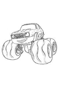 monster truck da colorare PDF Pickle