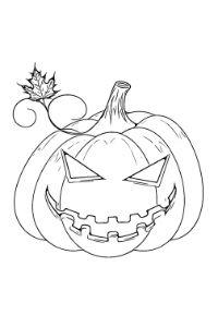colorare zucca halloween pdf