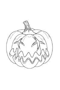 disegni halloween da colorare zucca triste