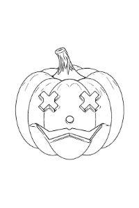 disegni zucca di halloween da colorare stampare e ritagliare