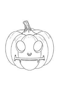 zucca aliena halloween da colorare e ritagliare