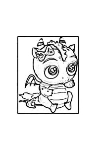 Little Charmers disegni da colorare Treble draghetto
