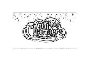 Little Charmers scritta da colorare