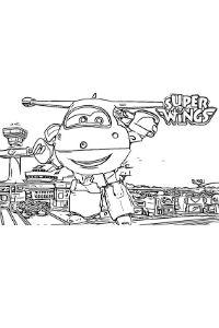 disegni Super WIngs da colorare Jett