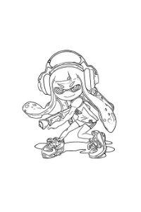 disegni da colorare e stampare splatoon personaggi videogames
