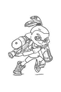 disegni da colorare personaggi splatoon