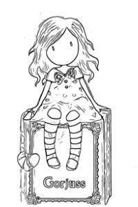 bambole gorjuss disegni da colorare per bambini