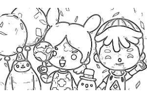 disegni da colorare di toca life personaggi