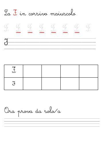impara a scrivere la lettera f in corsivo