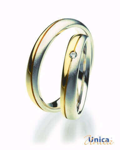Unica Mf05l Anelli Nuziali Oro Giallo Diamante Bianco Prezzo