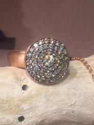 gioielli-anello-artigianale-linea-pois-oro-rosa-diamanti-brown