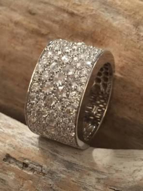 anello diamanti, taglio antico