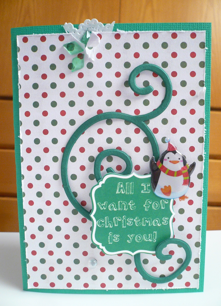 "Giorgia Rossini scrapbooking - ""all I want for Christmas is you"" card"