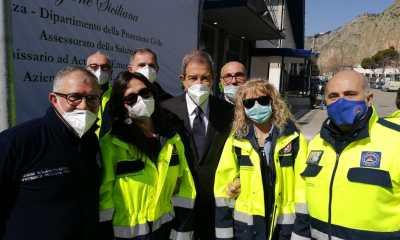 Inaugurazione centro Vaccini alla Fiera del Mediterraneo di Palermo