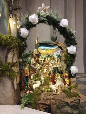 Presepe nella chiesa del Sacro Cuore