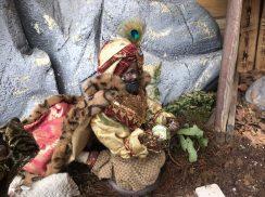 Presepe in giardino a San Pietro in campo, Biagioni Marialuce e Biagioni Agata