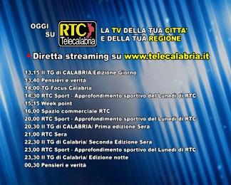 Oggi su RTC Telecalabria programmazione del 19 febbraio 2018