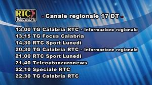 Oggi su RTC Telecalabria – Programmazione del 18 marzo 2019