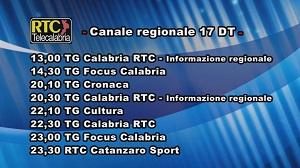 Oggi su RTC Telecalabria – Programmazione del 19 marzo 2019