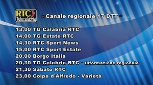 Oggi su RTC Telecalabria – Programmazione del 20 luglio 2019