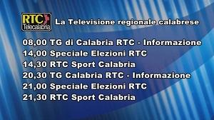 Oggi su RTC Telecalabria – Programmazione del 12 novembre 2019