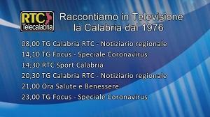 Oggi su RTC – Programmazione di martedì 25 febbraio 2020