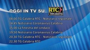 Oggi su RTC – Programmazione di lunedì 6 aprile 2020