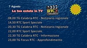 IN TV SU RTC – Venerdì 7 Agosto