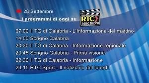 IN TV SU RTC – Lunedì 28 Settembre