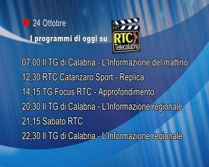 IN TV SU RTC – Sabato 24 Ottobre