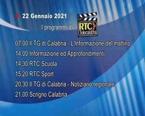 IN TV SU RTC – Venerdì 22 Gennaio