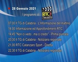 IN TV SU RTC – Giovedì 28 Gennaio