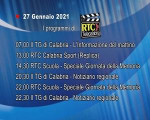 IN TV SU RTC – Mercoledì 27 Gennaio