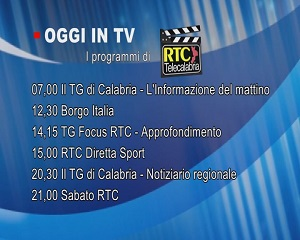 IN TV SU RTC – Sabato 27 Febbraio