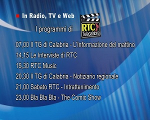 In Radio, TV e Web su RTC – Programmi di Sabato 17 Aprile