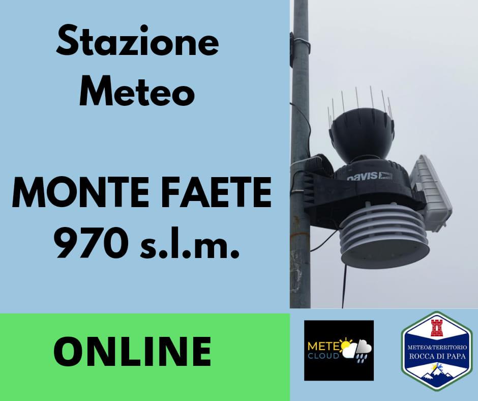 Rocca di Papa, arriva la sesta stazione meteo!