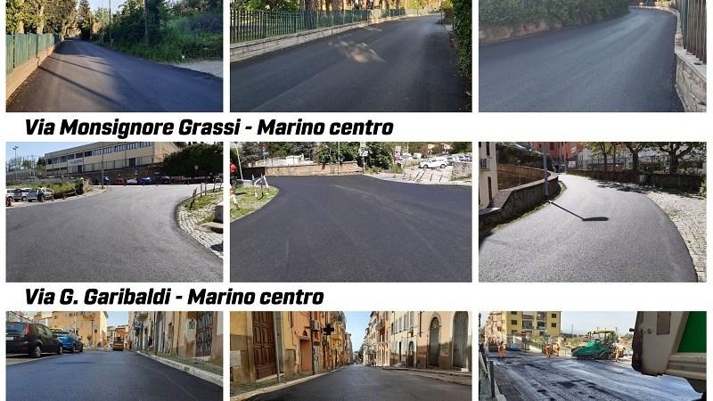 Marino, al centro e a Cava dei Selci proseguono i lavori di rifacimento strade